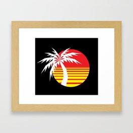 Red Sun Palm Framed Art Print
