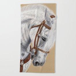 Horse Portrait 01 Beach Towel