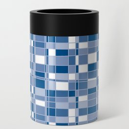 Mod Gingham - Blue Can Cooler