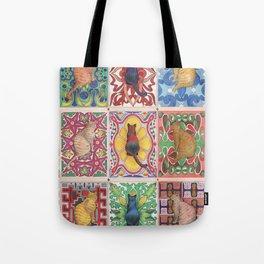 Cat Tiles Tote Bag