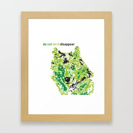 Wolf - do not let it disappear Framed Art Print