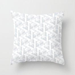 Triangle Optical Illusion Gray Light Throw Pillow