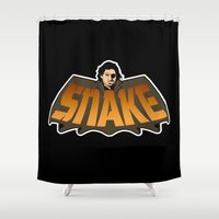 snake Shower Curtains featuring Snake by Buby87