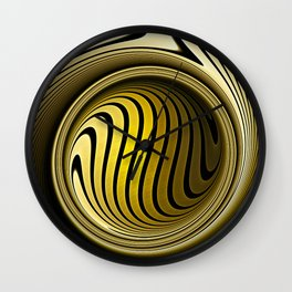 Turning into gold Wall Clock