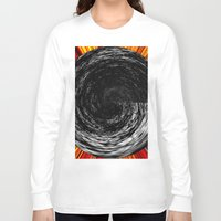 channel Long Sleeve T-shirts featuring black channel reconstruction by donphil