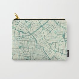 Tianjin Map Blue Vintage Carry-All Pouch