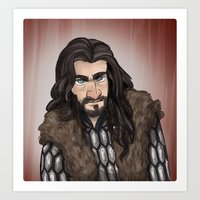 thorin Art Prints featuring Thorin by quietsnooze