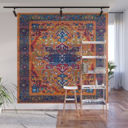 N86 - Vintage Boho Berber Moroccan Handmade Style Design. Wall Mural