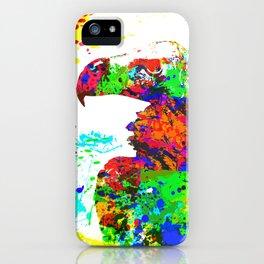 Regal Condor Splatter Paint Effect iPhone Case
