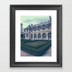 French Garden Maze III Framed Art Print