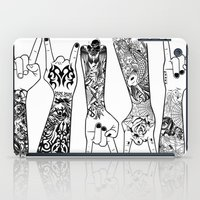 rock and roll iPad Cases featuring rock & roll  by jun salazar