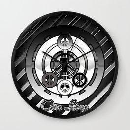 One Love (Black) Wall Clock
