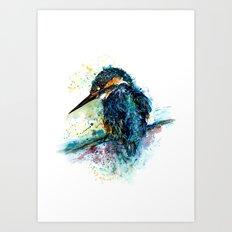 'The Kingfisher' Art Print