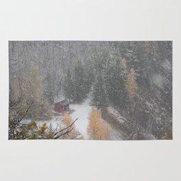 Burried in snow Rug