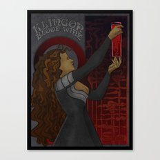 Klingon Blood Wine Canvas Print