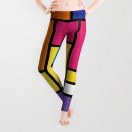 Mondrian Bauhaus Pattern #11 Leggings