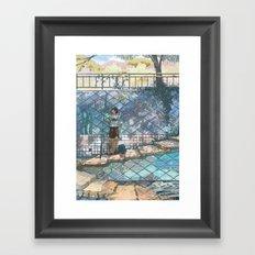 Sea stairs Framed Art Print