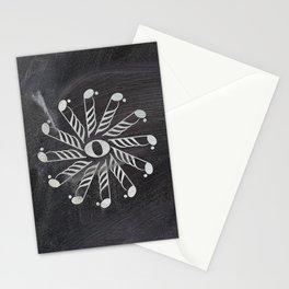 Music mandala 3 on chalkboard Stationery Cards