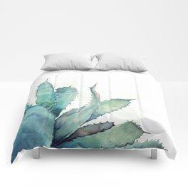 Aloe Watercolor Comforters