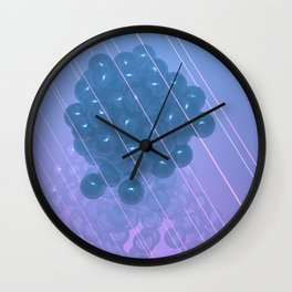 Pink and Blue make Purple Wall Clock