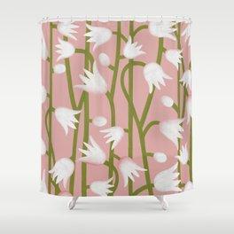 Climbing Lillies on Pink Shower Curtain