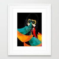 mask Framed Art Prints featuring Mask by Alvaro Tapia Hidalgo