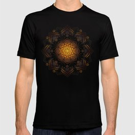"""Warm light Moroccan lantern Mandala"" T-shirt"