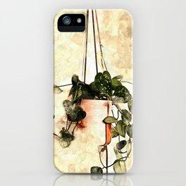 Hanging Money Plant #watercolor iPhone Case