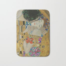 The Kiss by Gustav Klimt Bath Mat