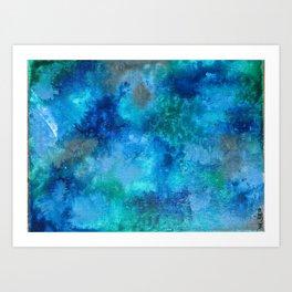 Blue Clouds Art Print