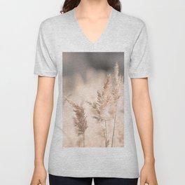 Neutral Tone Pampas Grass, Reed Unisex V-Neck