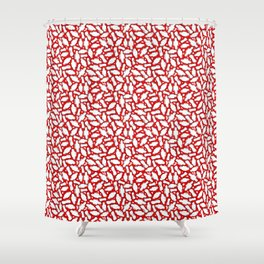Period time - pads with wings and panty liners Shower Curtain