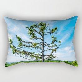 Conifer Tree Top Rectangular Pillow