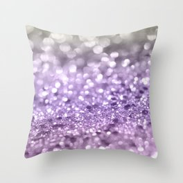 Purple Lavender Glitter #1 #shiny #decor #art #society6 Throw Pillow