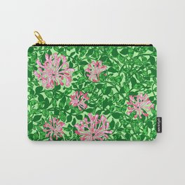 William Morris Honeysuckle, Pink and Emerald Green Carry-All Pouch
