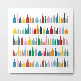 Bottles Multi Metal Print