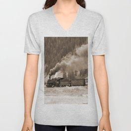 Steam Hauled Train - Engine 486 Unisex V-Neck