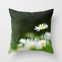 daisies Throw Pillows featuring Daisies by Nathalie Photos