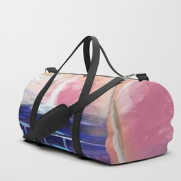 Flourescent Waterfall Painting. Waterfall, Abstract, Blue, Pink. Water. Jodilynpaintings. Duffle Bag