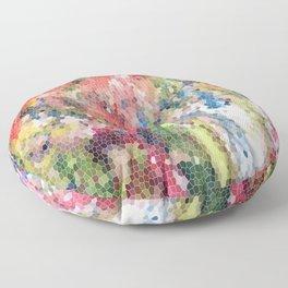 Psychedelic Snake Skin Floor Pillow