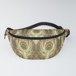 Golden Art Deco print Fanny Pack