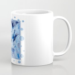 Dove With Celtic Peace Text In Blue Tones Coffee Mug