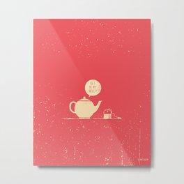 Tea bag & Teapot Metal Print