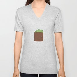 Wallet with money Unisex V-Neck