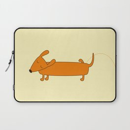 Cute pissing dachshund Laptop Sleeve