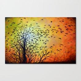 Abstract Landscape Original Painting...HOMEWARD Canvas Print