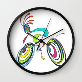 Bicycle - Kokopelli rides again Wall Clock
