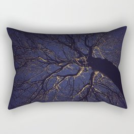 Tree at Night Rectangular Pillow