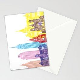 Minneapolis V2 skyline pop Stationery Cards