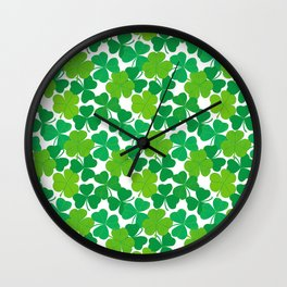 Shamrock Pattern Wall Clock